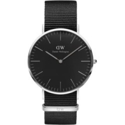 Analog Classic Stainless Steel and Leather Watch found on MODAPINS from The Bay for USD $237.15