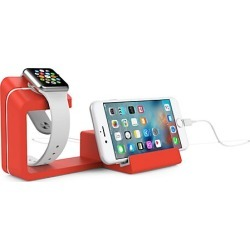 Dual 2-in-1 Charging Stand for Apple Watch & Smartphone