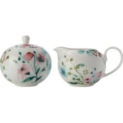 3-Piece Primavera Porcelain Cream & Sugar Set