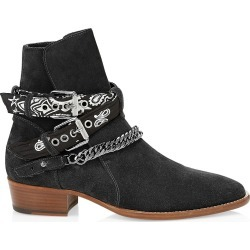 Amiri Men's Bandana Buckle Leather Boot - Black - Size 44 (11) found on MODAPINS from Saks Fifth Avenue for USD $1390.00