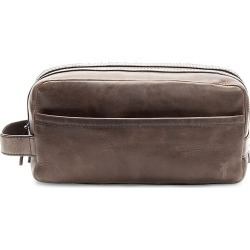 Frye Men's Logan Leather Toiletry Bag - Slate found on MODAPINS from Saks Fifth Avenue for USD $188.00