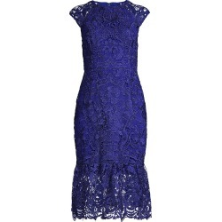 Shoshanna Women's Cally Cap-Sleeve Lace Dress - Royal - Size 2 found on Bargain Bro India from Saks Fifth Avenue for $171.60