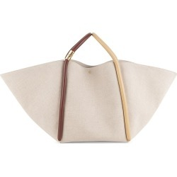 Boyy Women's Lotus Leather-Trimmed Canvas Tote - Beige found on MODAPINS from Saks Fifth Avenue for USD $861.00