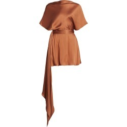 Brandon Maxwell Women's Boatneck Silk Mini Dress - Copper - Size 2 found on MODAPINS from Saks Fifth Avenue for USD $670.50