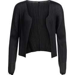 Pleats Please Issey Miyake Women's Basics Jacket - Black - Size 5 (XL) found on MODAPINS from Saks Fifth Avenue for USD $310.00