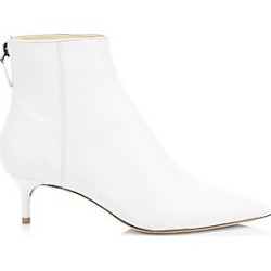 Alexandre Birman Women's Leather Kittie Booties - White - Size 7 found on MODAPINS from Saks Fifth Avenue for USD $695.00