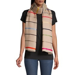 Janavi Women's Colorful Horizon Striped Cashmere Scarf - Natural found on MODAPINS from Saks Fifth Avenue for USD $450.00