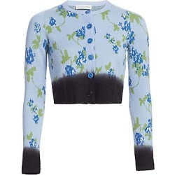 Altuzarra Women's Floral Merino Wool Cardigan - Hyacinth - Size Large found on MODAPINS from Saks Fifth Avenue for USD $650.00