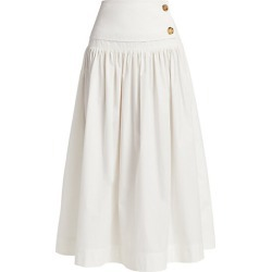 Co Women's Ruched Midi Skirt - White - Size Small found on MODAPINS from Saks Fifth Avenue for USD $695.00