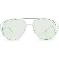 For Art's Sake Women's Dark Eyes 61MM Teardrop Sunglasses - Green found on MODAPINS from Saks Fifth Avenue for USD $215.00
