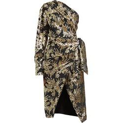 Altuzarra Women's Chanda Metallic Foil One-Shoulder Silk-Blend Dress - Black - Size 34 (0) found on MODAPINS from Saks Fifth Avenue for USD $598.50