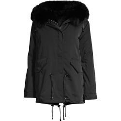 Nicole Benisti Women's Ludlow Fur Trim Parka - Black - Size XL found on MODAPINS from Saks Fifth Avenue for USD $1950.00