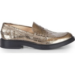 Tod's Women's Metallic Leather Penny Loafers - Nicotina - Size 39 (9) found on Bargain Bro India from Saks Fifth Avenue for $575.00