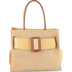 Boyy Women's Bobby Colorblock Raffia & Leather Tote - Tan found on MODAPINS from Saks Fifth Avenue for USD $836.50