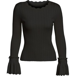 Scalloped Trim Sweater found on Bargain Bro from Saks Fifth Avenue Canada for USD $260.46