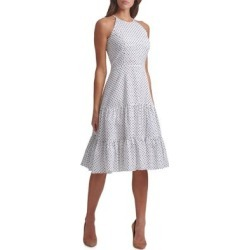 Robe midi étagée sans manches à pois found on Bargain Bro Philippines from La Baie for $164.00