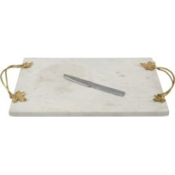 Ivy & Oak 2-Piece Marble Cheese Board & Stainless Steel Knife Set