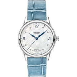 Montblanc Women's Bohème Stainless Steel & Alligator Strap Automatic Watch - Blue