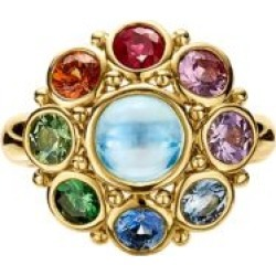 Celestial 18K Yellow Gold & Multi-Stone Stella Cluster Ring