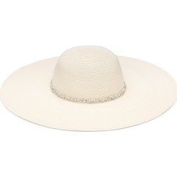 Eugenia Kim Women's Bunny Crystal Band Packable Paper Straw Sun Hat - Ivory found on MODAPINS from Saks Fifth Avenue for USD $465.00