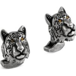 Swarovski Crystals & Gunmetal-Plated Tiger Cufflinks found on Bargain Bro UK from Saks Fifth Avenue UK