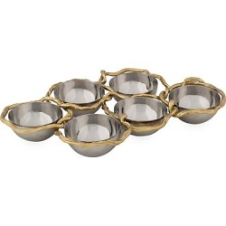 Wisteria Gold Stainless Steel & Brass 6-Compartment Plate found on Bargain Bro Philippines from Saks Fifth Avenue Canada for $290.12