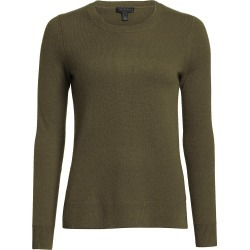 Saks Fifth Avenue Women's COLLECTION Cashmere Roundneck Sweater - Olive Moss - Size Small found on Bargain Bro from Saks Fifth Avenue for USD $95.00