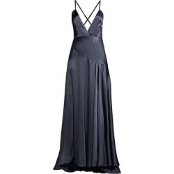 FAME AND PARTNERS Women's Peony Strappy Evening Gown - Indigo - Size 8