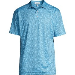 Peter Millar Men's Bourbon-Print Regular-Fit Polo - Lake Blue - Size XL found on Bargain Bro Philippines from Saks Fifth Avenue for $98.00