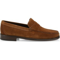 Saks Fifth Avenue Men's COLLECTION Suede Loafers - Brown - Size 10 found on Bargain Bro from Saks Fifth Avenue for USD $226.48
