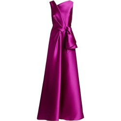 Alberta Ferretti Women's Mikado Silk Sleeveless Bow Ball Gown - Violet - Size 42 (6) found on MODAPINS from Saks Fifth Avenue for USD $1750.00