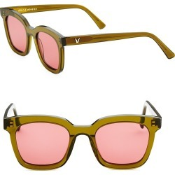 Gentle Monster Women's 48MM Finn Retro Square Sunglasses - Dark Pink found on MODAPINS from Saks Fifth Avenue for USD $215.00
