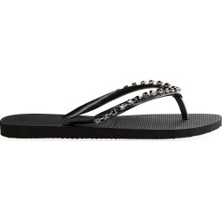 Havaianas Women's Slim Rock Mesh Crystal-Embellished Flip Flops - Black - Size 7 found on MODAPINS from Saks Fifth Avenue for USD $98.00