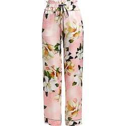 Adriana Iglesias Women's Aila Silk Floral Pants - Rose Leopard Orchids - Size 42 (10) found on MODAPINS from Saks Fifth Avenue for USD $588.00