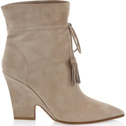 Aquazzura Women's Sartorial Tassel-Trimmed Suede Ankle Boots - Grey - Size 37 (7) found on Bargain Bro Philippines from Saks Fifth Avenue for $950.00