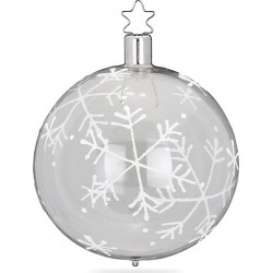 Inge's Christmas Decor Snow Fall Transparent Glass Ball Ornament - White found on Bargain Bro India from Saks Fifth Avenue for $13.00
