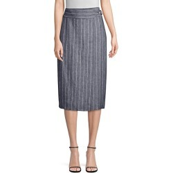 Palco Pinstripe Wrap Skirt found on Bargain Bro India from Saks Fifth Avenue OFF 5TH for $205.79