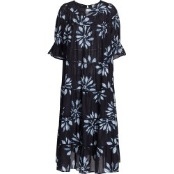 Merlette Women's Paradis Shibori Midi Dress - Navy Floral - Size Small found on MODAPINS from Saks Fifth Avenue for USD $460.00