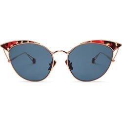 Ahlem Women's Place Violet 53MM Cat-Eye Sunglasses - Rose Gold Blue found on MODAPINS from Saks Fifth Avenue for USD $470.00