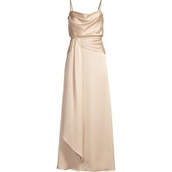 FAME AND PARTNERS Women's Anita Draped Gown - Light Nude - Size 0