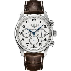 Longines Master Automatic Alligator Strap Watch - White found on MODAPINS from Saks Fifth Avenue for USD $3075.00