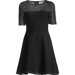Milly Women's Translucent Textured Fit-&-Flare Dress - Black - Size Medium found on Bargain Bro India from LinkShare USA for $475.00