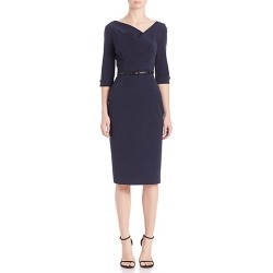 Black Halo Women's Jackie O Three-Quarter Sleeve Dress - Eclipse - Size 16 found on MODAPINS from Saks Fifth Avenue for USD $375.00