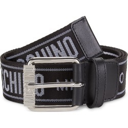 Moschino Men's Fabric Strap Belt - Black Silver - Size 50 (34) found on Bargain Bro Philippines from Saks Fifth Avenue for $255.00