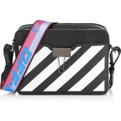 Off-White Women's Diagonal Stripe Leather Camera Bag - Black White found on MODAPINS from Saks Fifth Avenue for USD $1140.00
