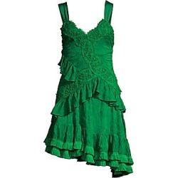 Alexis Women's Lakshmi Ruffle Lace Mini Dress - Emerald Green - Size XS found on MODAPINS from Saks Fifth Avenue for USD $568.00