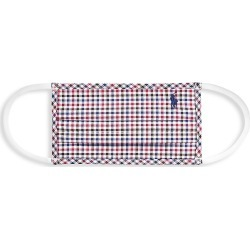 Polo Ralph Lauren Men's Polo Horse Cotton Poplin Plaid Face Mask - Raspberry - Size Medium found on Bargain Bro India from Saks Fifth Avenue for $20.00