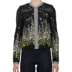 Giambattista Valli Women's Sequin-Embellished Floral Jacket - Black Rose - Size 12 found on MODAPINS from Saks Fifth Avenue for USD $3360.00