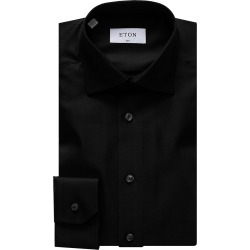 Eton Men's Slim-Fit Diagonal Weave Dress Shirt - Black - Size 14.5 found on Bargain Bro India from Saks Fifth Avenue for $265.00