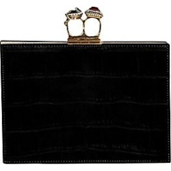 Double-Ring Leather Clutch